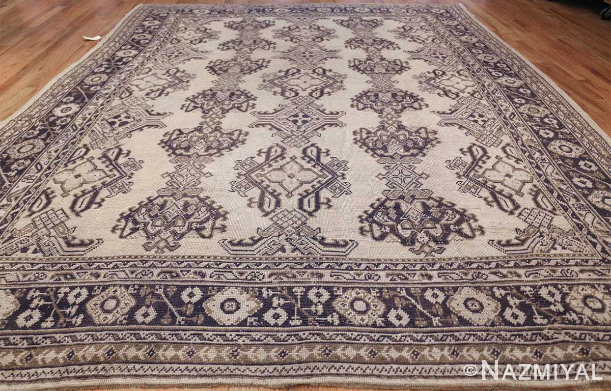 large ivory antique turkish oushak rug 47172 whole Nazmiyal