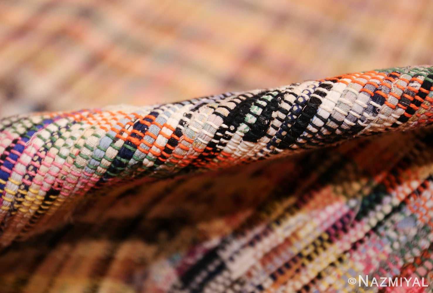 large oversize antique american rag rug 48667 pile Nazmiyal