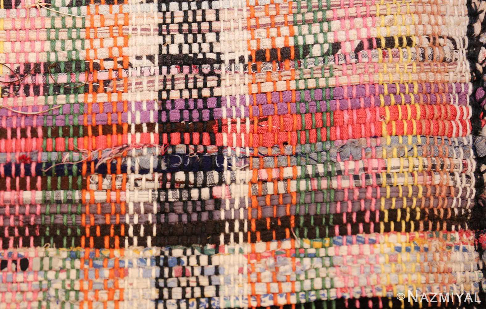large oversize antique american rag rug 48667 squares Nazmiyal