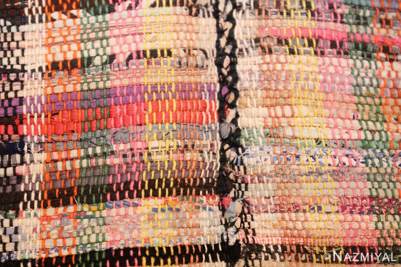 large oversize antique american rag rug 48667 stitch Nazmiyal