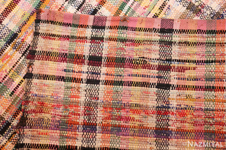 large oversize antique american rag rug 48667 weave Nazmiyal