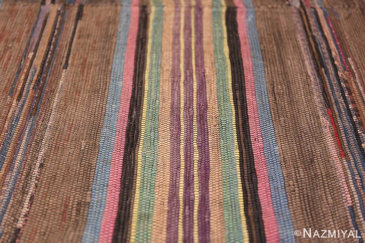 large room size antique american rag rug 48668 colorful Nazmiyal