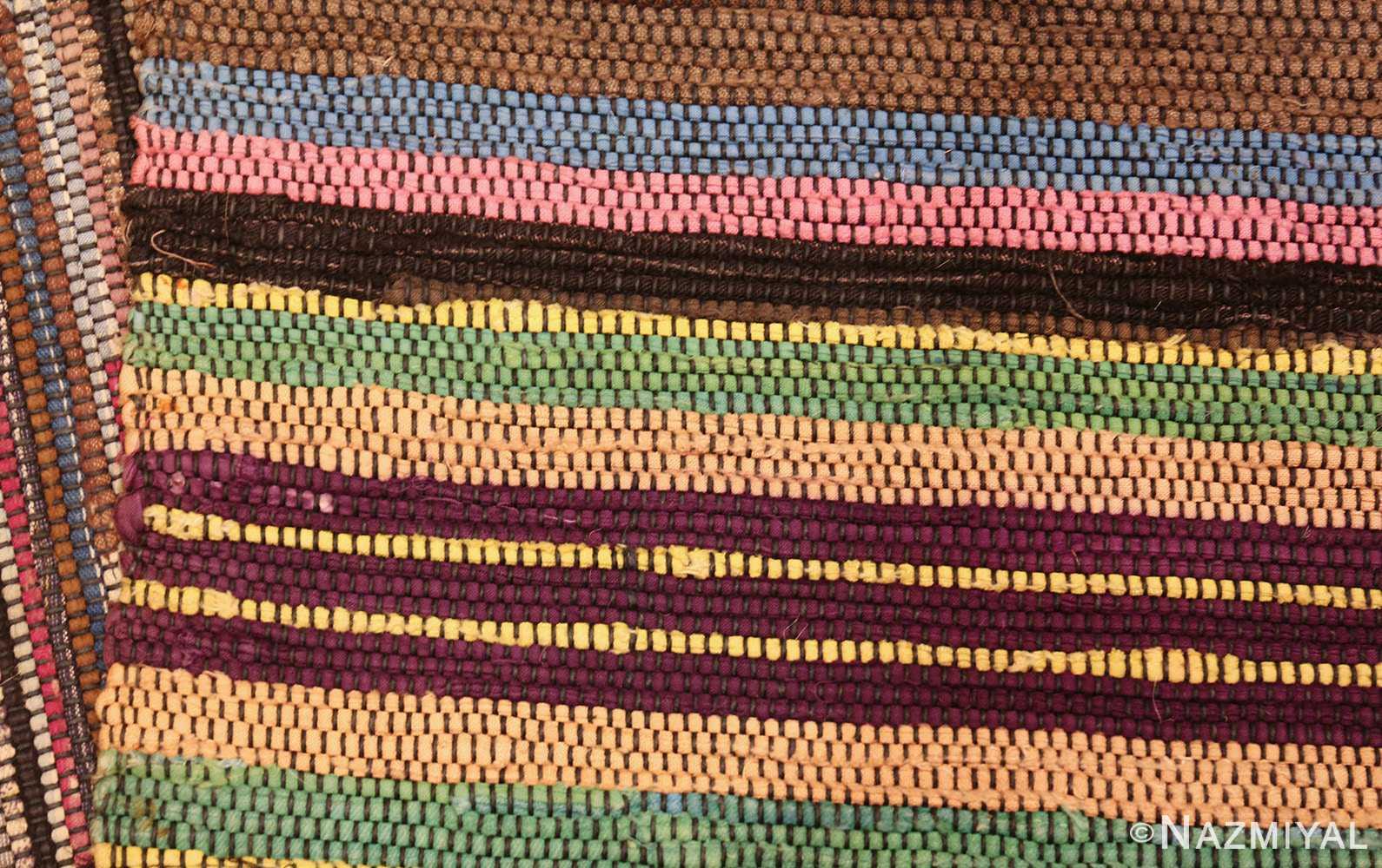 large room size antique american rag rug 48668 weave Nazmiyal