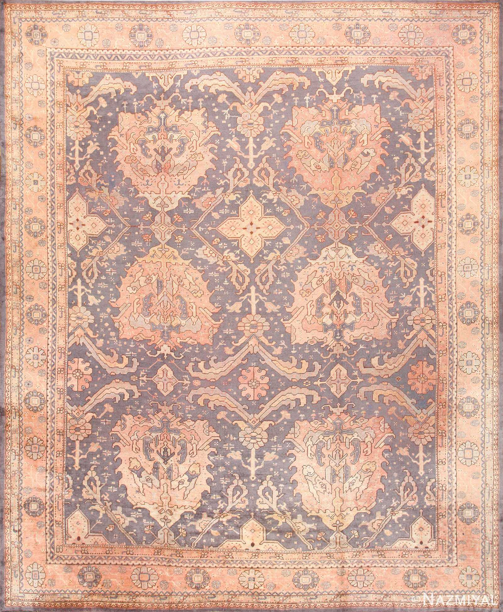 Large Scale Antique Turkish Oushak Rug 50241 Nazmiyal
