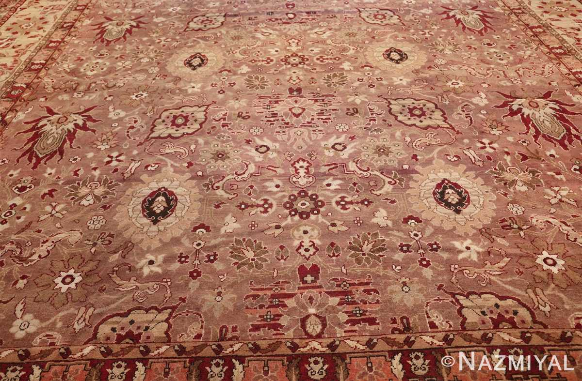large square antique indian agra rug 46911 field Nazmiyal