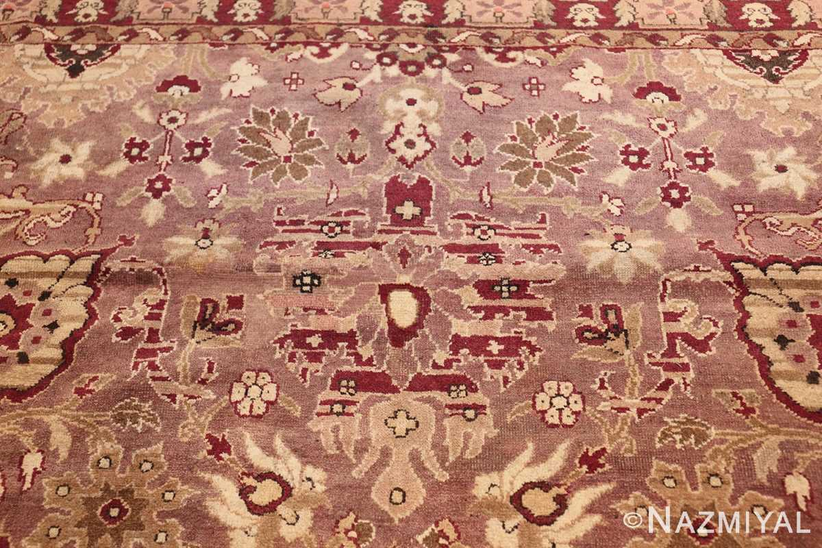 large square antique indian agra rug 46911 heart Nazmiyal