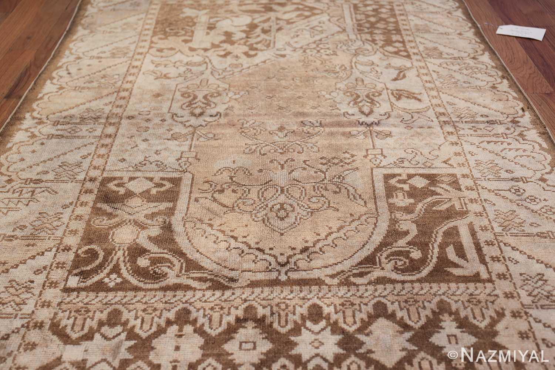 Neutral Antique Turkish Ghiordes Oushak Rug 50290 Field Design Nazmiyal