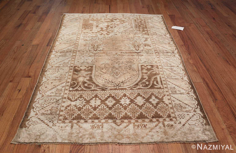 Neutral Antique Turkish Ghiordes Oushak Rug 50290 Whole Design Nazmiyal