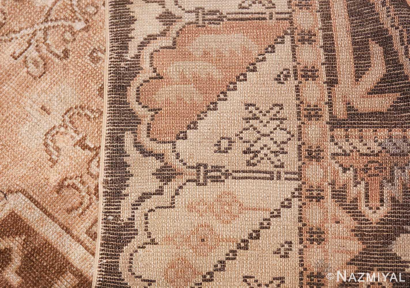 Neutral Antique Turkish Ghiordes Oushak Rug 50290 Woven Knots Nazmiyal