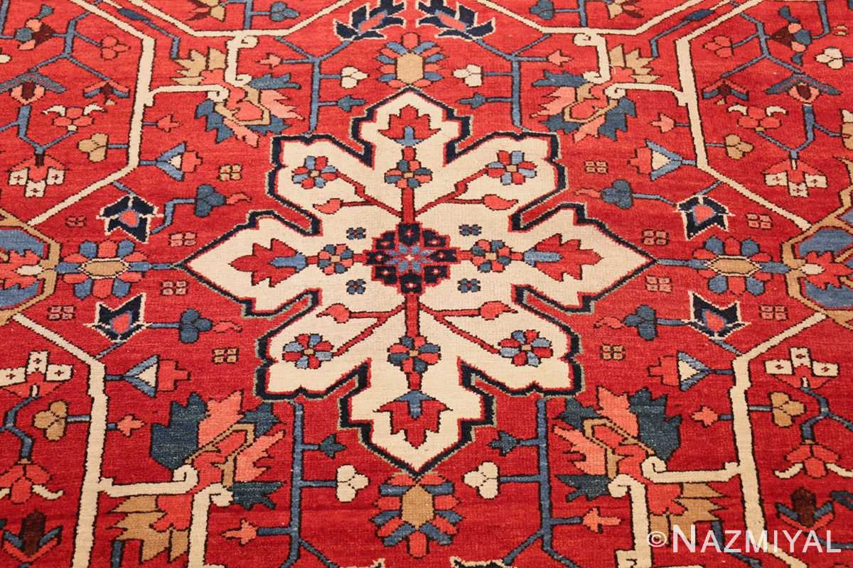 oversize antique persian serapi heriz rug 48677 center Nazmiyal