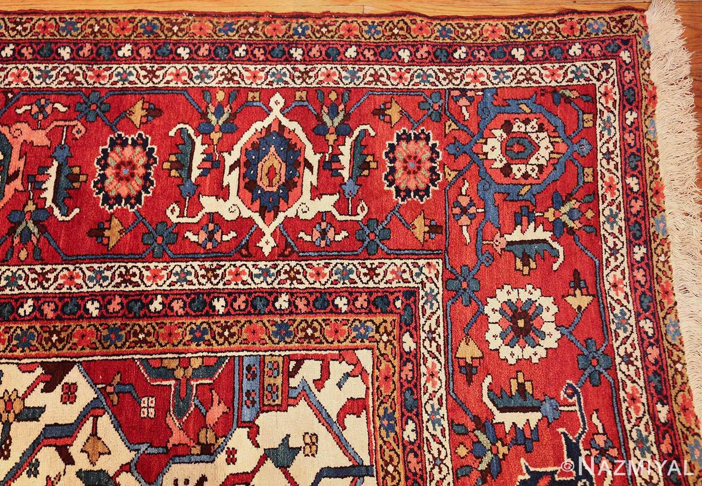 oversize antique persian serapi heriz rug 48677 corner Nazmiyal