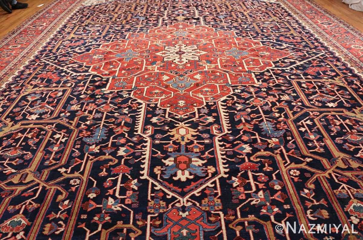 oversize antique persian serapi heriz rug 48677 field Nazmiyal