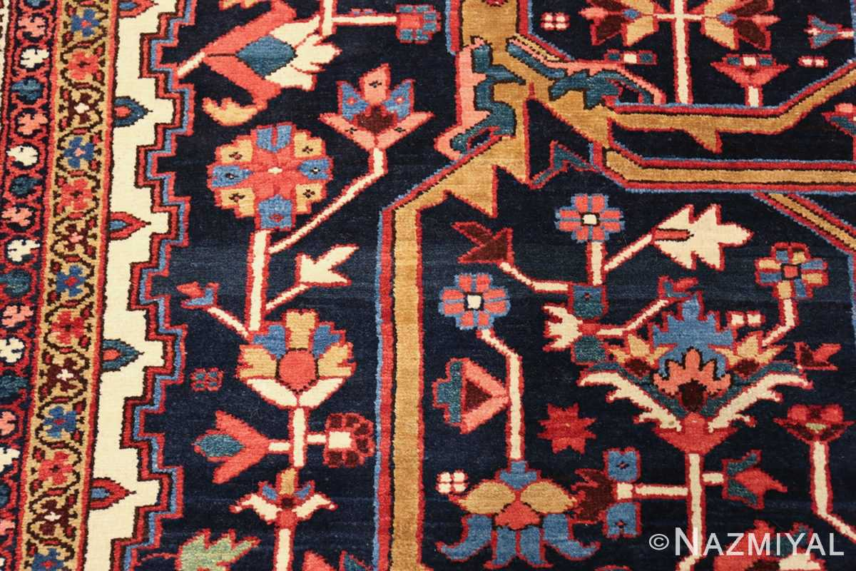 oversize antique persian serapi heriz rug 48677 flowers Nazmiyal