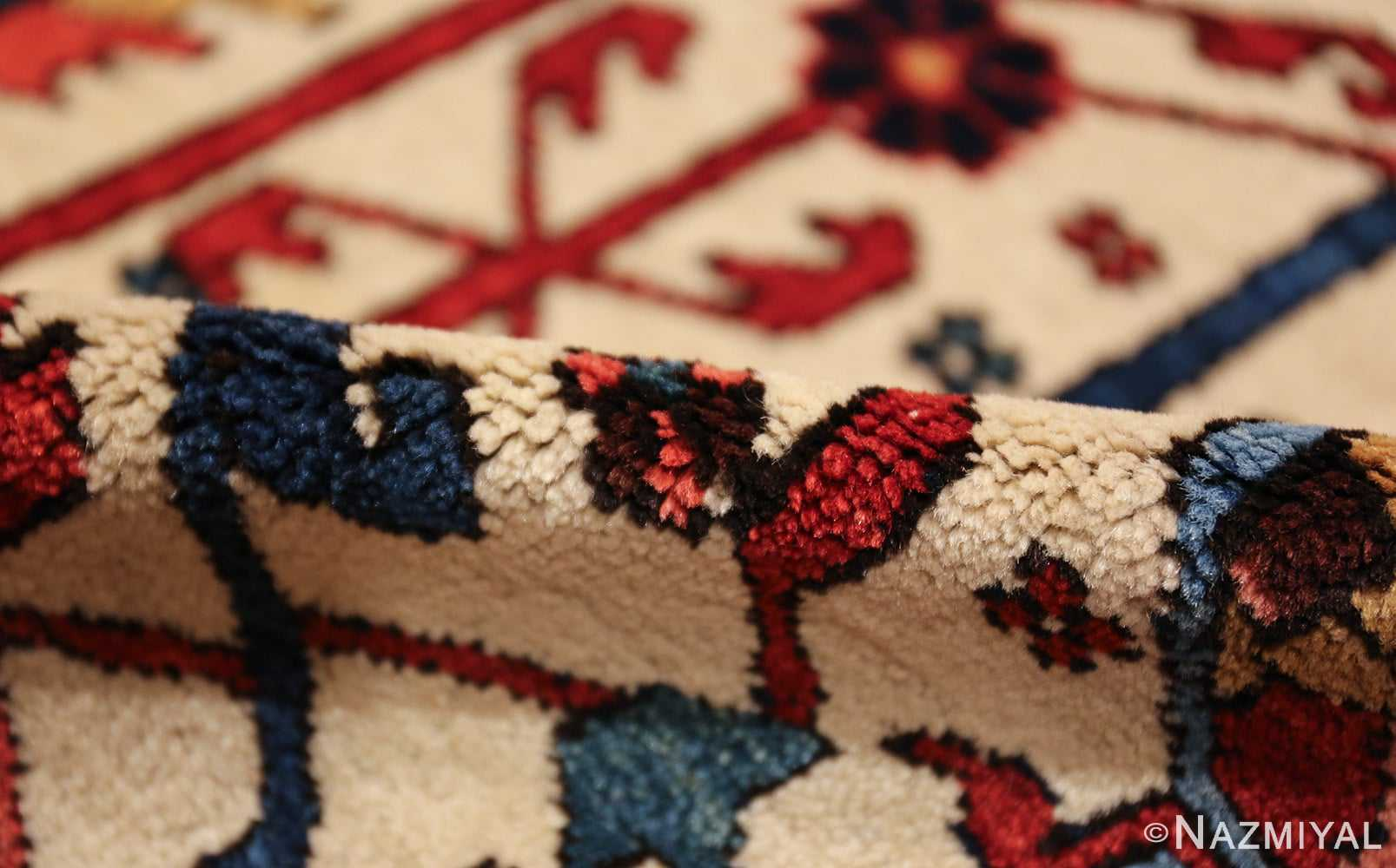 oversize antique persian serapi heriz rug 48677 pile Nazmiyal