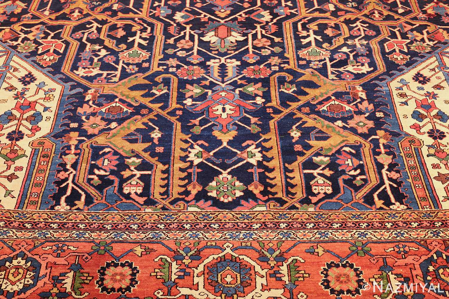 oversize antique persian serapi heriz rug 48677 top Nazmiyal
