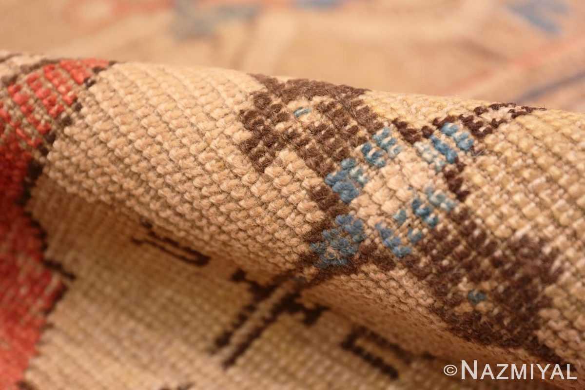 Pile Antique 17th Century Smyrna Turkish Oushak rug 48663 by Nazmiyal