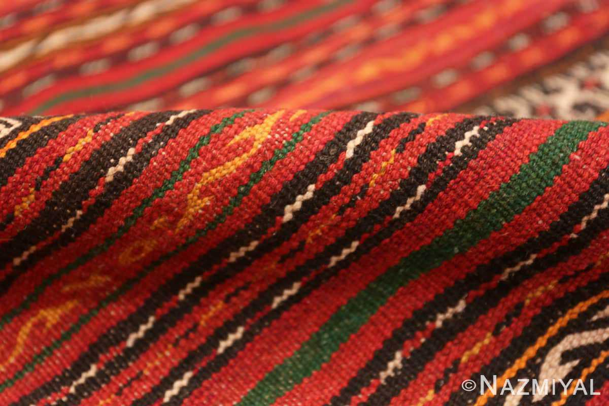 Pile Vintage tribal Turkish Kilim rug 50383 by Nazmiyal