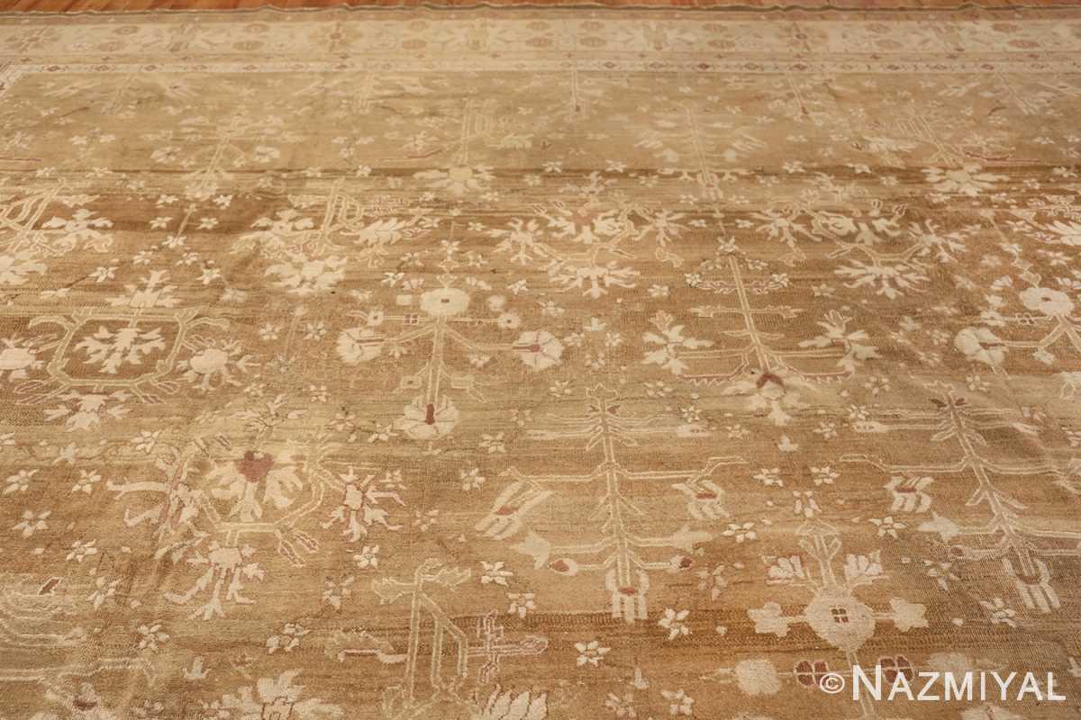 Rare Moss Green Antique Indian Amritsar Rug 50378 Top Design Nazmiyal