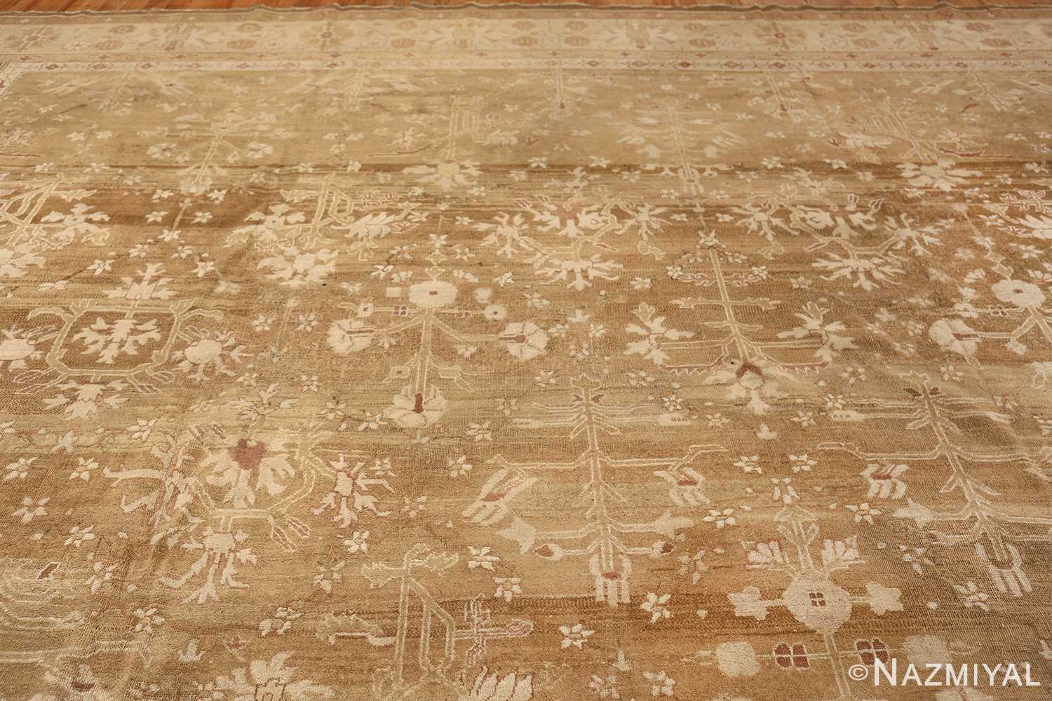 Rare Moss Green Antique Indian Amritsar Rug 50378 Top Design Nazmiyal