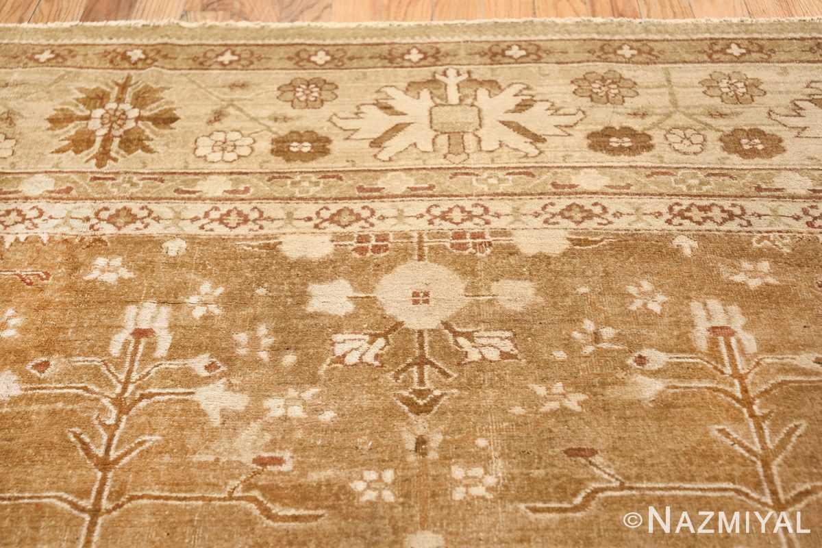 Rare Moss Green Antique Indian Amritsar Rug 50378 Upper Flower Nazmiyal