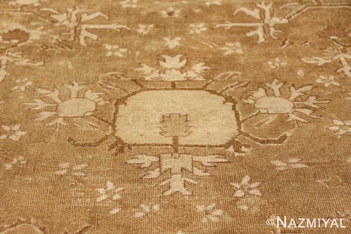 Rare Moss Green Antique Indian Amritsar Rug 50378 White Vase Nazmiyal