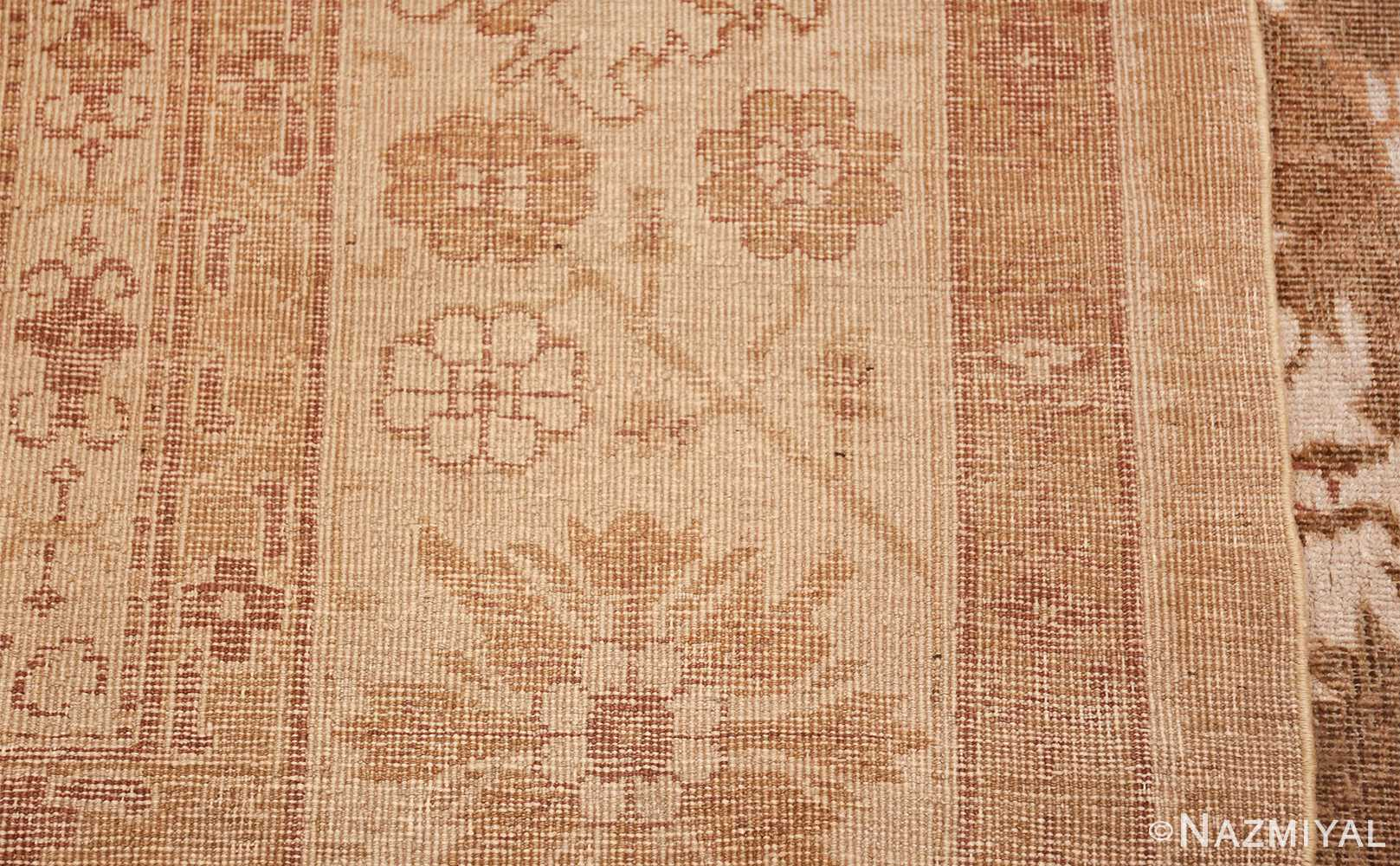 Rare Moss Green Antique Indian Amritsar Rug 50378 Woven Knots Nazmiyal