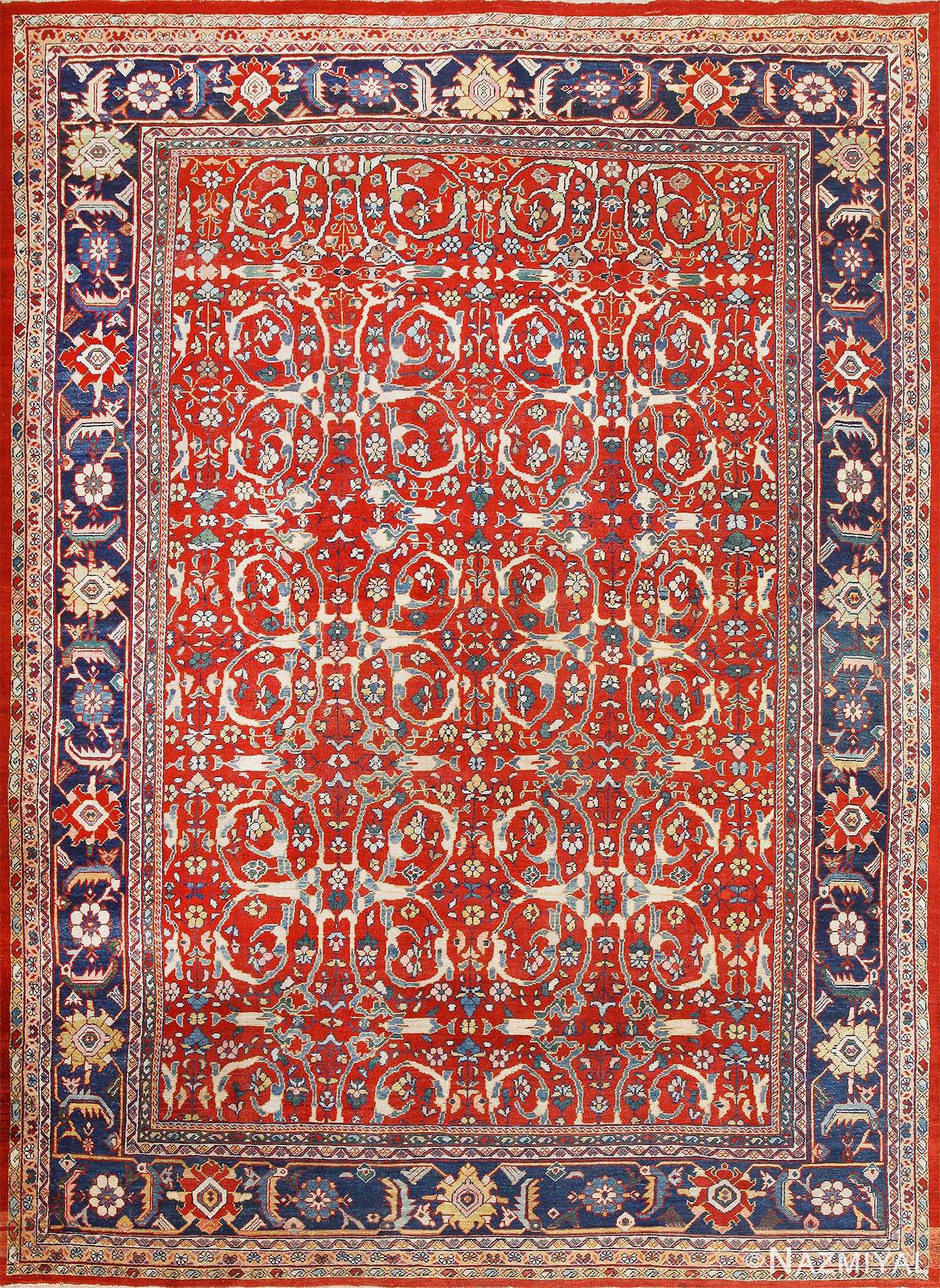 Red Antique Persian Mahal Sultanabad Rug 50442 Nazmiyal