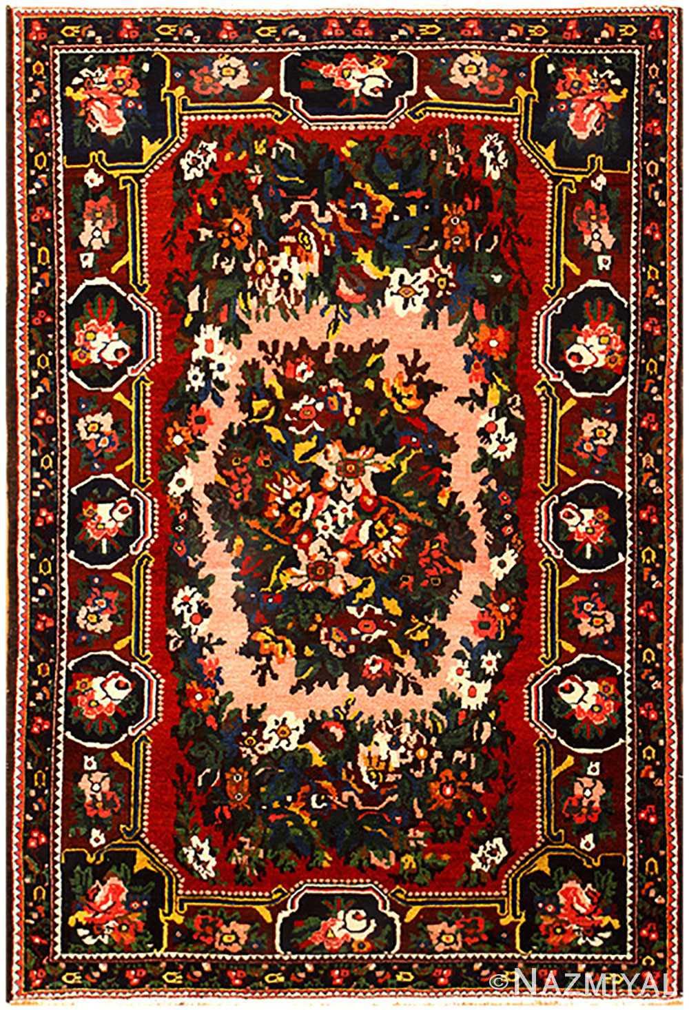 Red Semi Antique Persian Bakhtiari Rug 50439 Nazmiyal