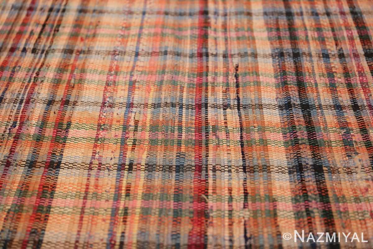 rustic antique american rag rug 48664 colors Nazmiyal