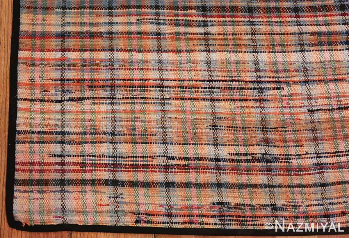 rustic antique american rag rug 48664 corner Nazmiyal
