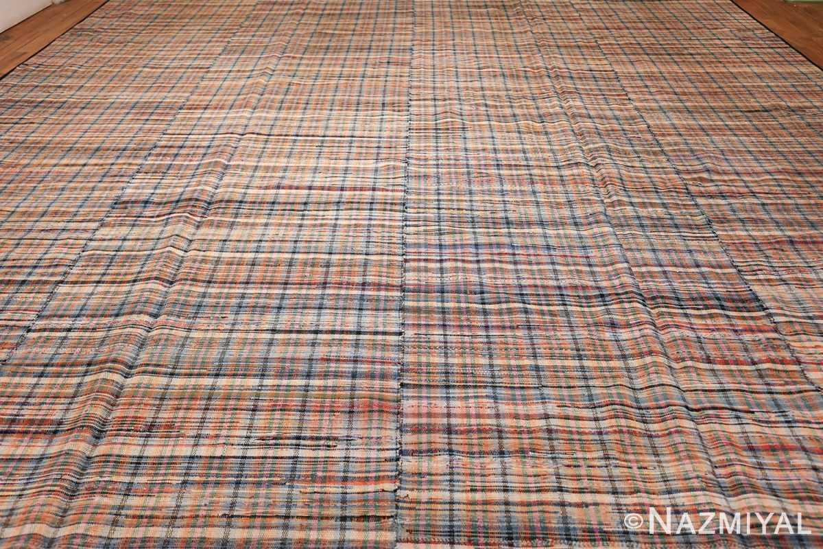 rustic antique american rag rug 48664 field Nazmiyal