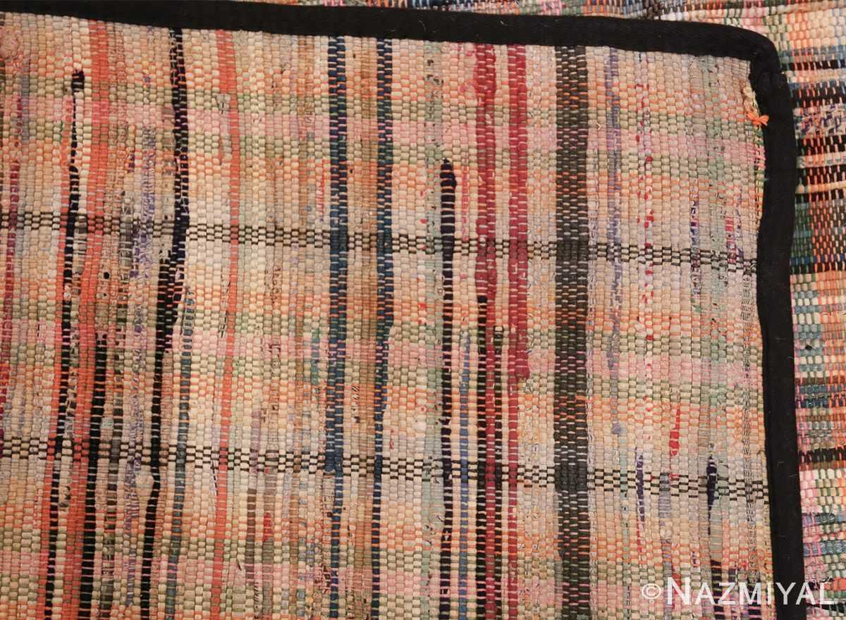 rustic antique american rag rug 48664 knots Nazmiyal