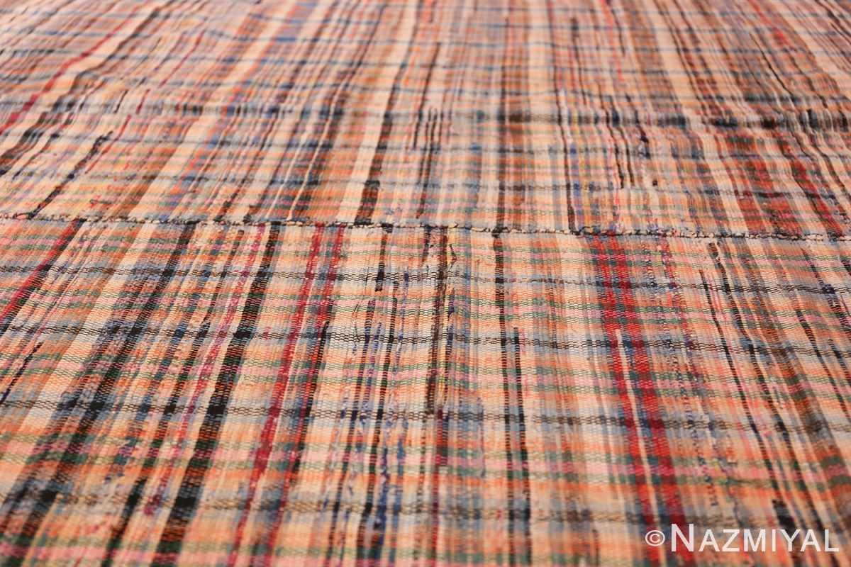 rustic antique american rag rug 48664 lines Nazmiyal