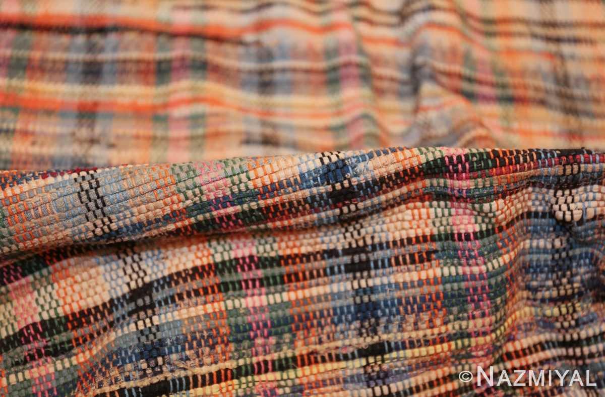 rustic antique american rag rug 48664 pile Nazmiyal