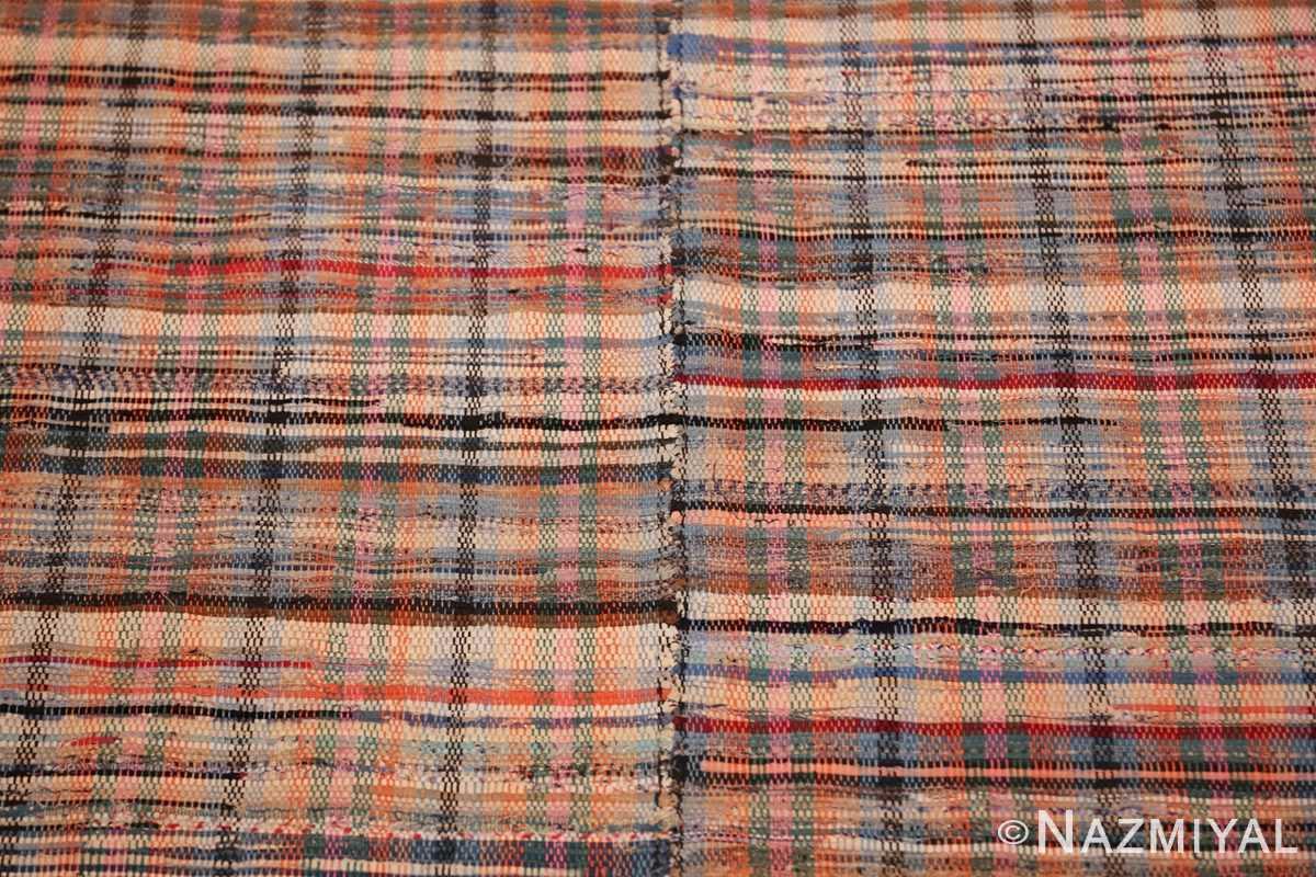 rustic antique american rag rug 48664 seam Nazmiyal