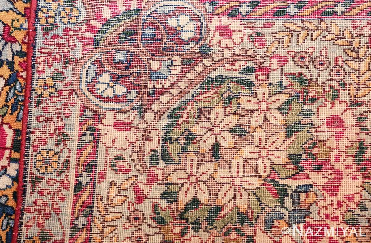saffron yellow antique persian kerman rug 48659 weave Nazmiyal