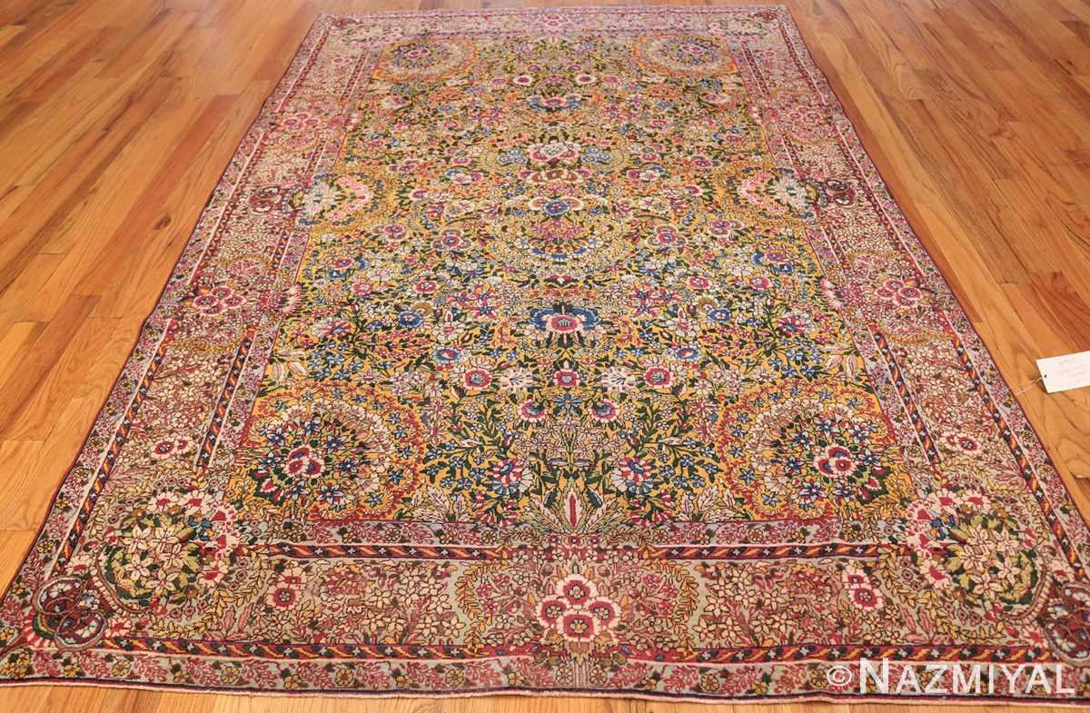 saffron yellow antique persian kerman rug 48659 whole Nazmiyal