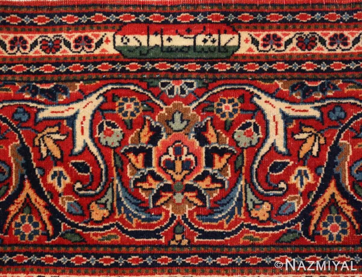 Signature Classical Antique Persian Kashan rug 50413 by Nazmiyal