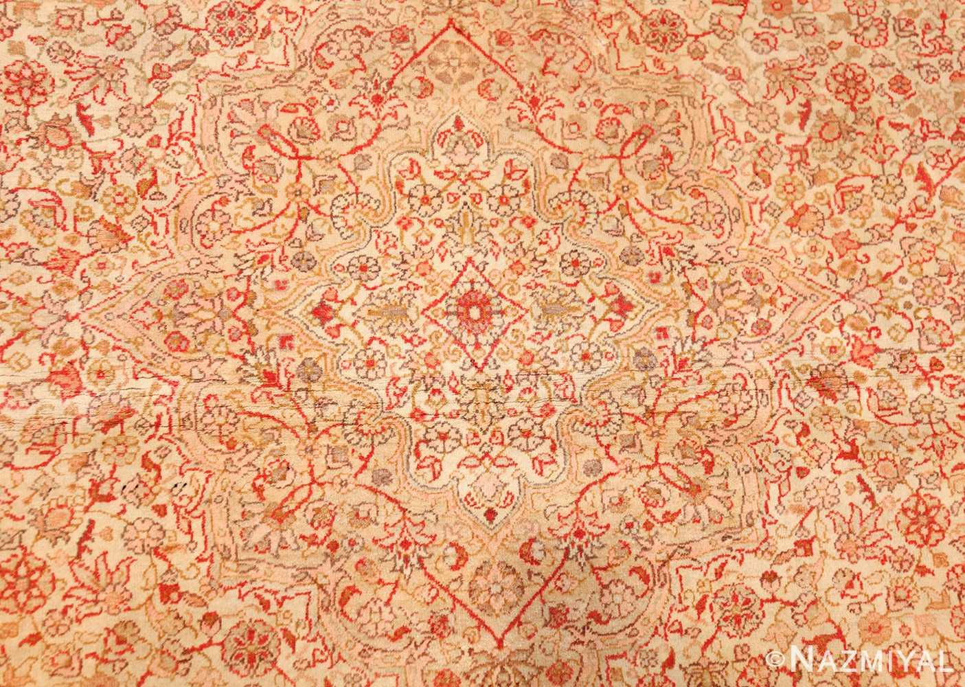 small and fine antique turkish sivas rug 50400 medallion Nazmiyal
