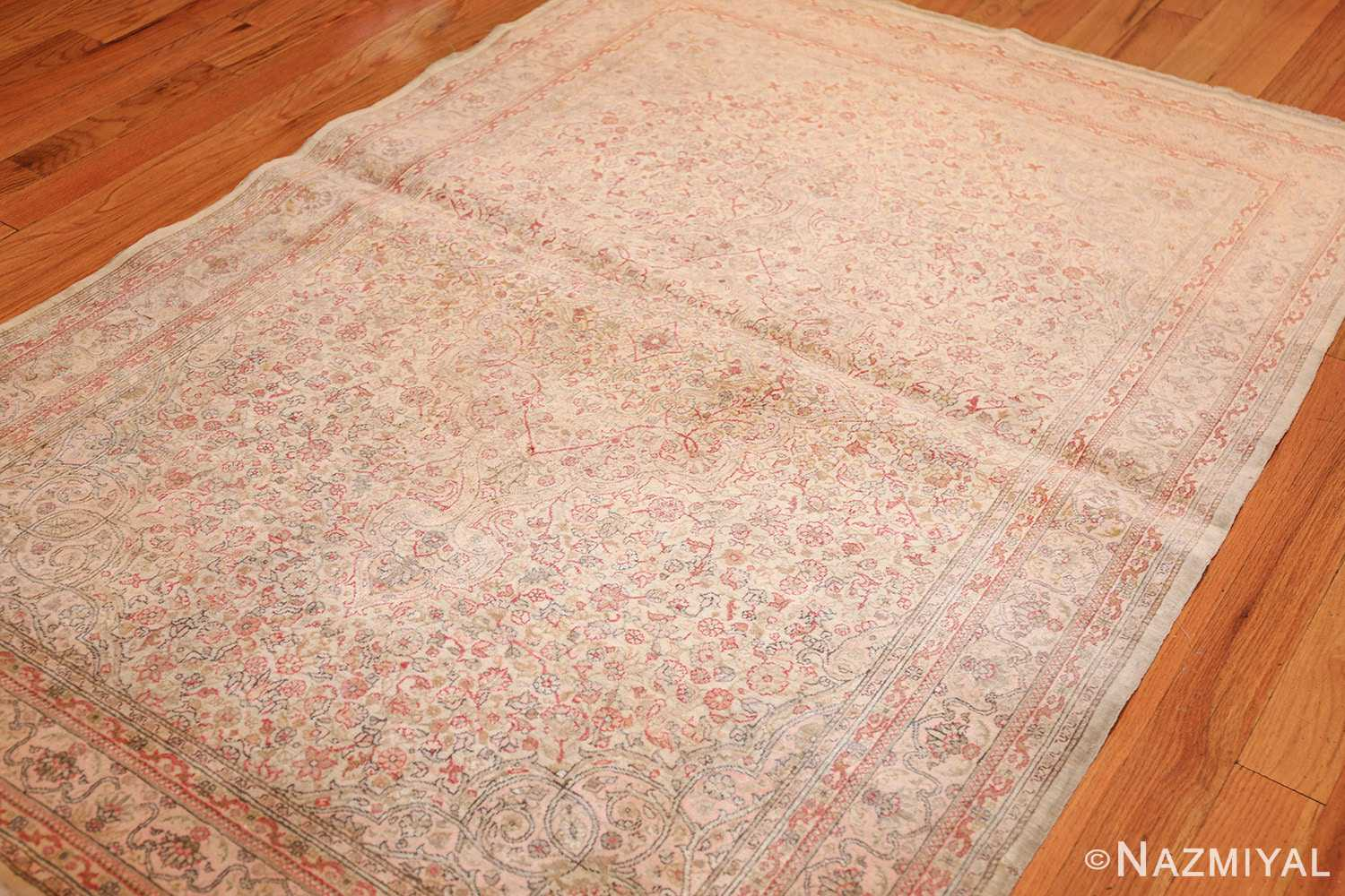 small and fine antique turkish sivas rug 50400 side Nazmiyal