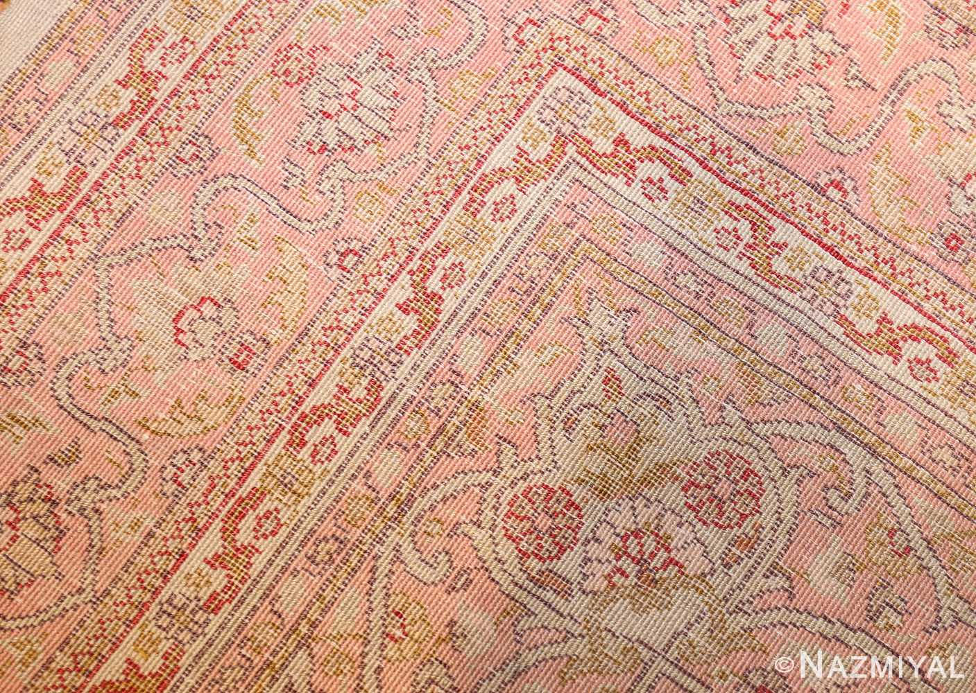 small and fine antique turkish sivas rug 50400 weave Nazmiyal