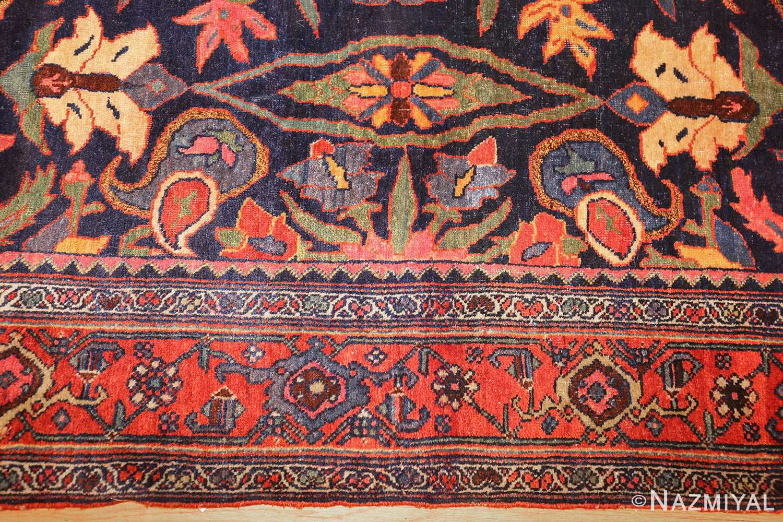 tribal antique blue persian bidjar rug 48655 border Nazmiyal