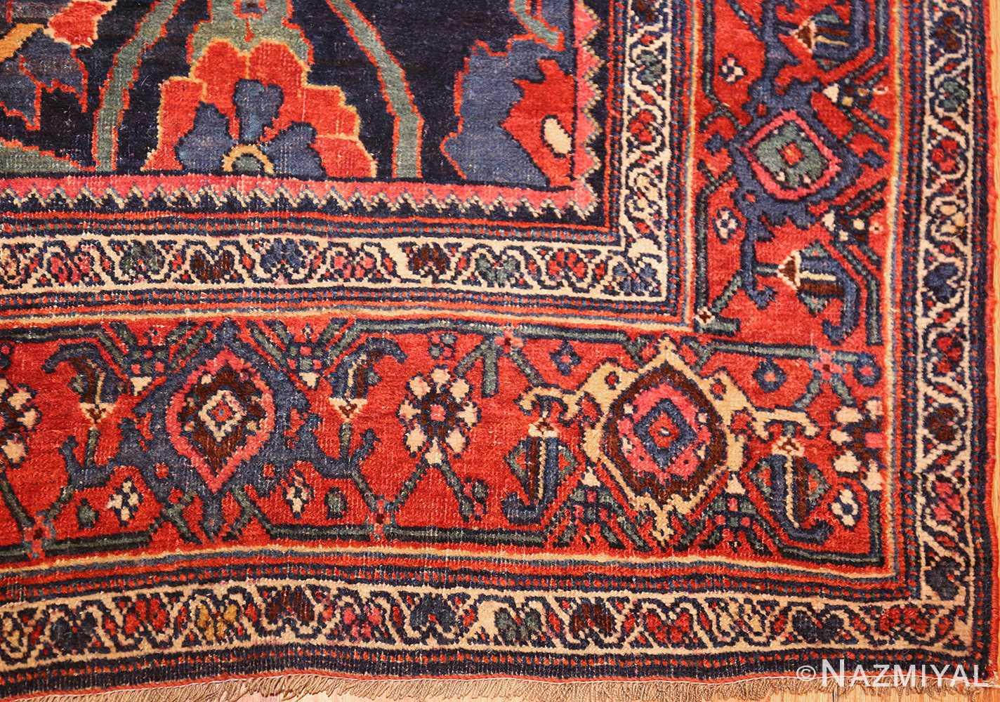 tribal antique blue persian bidjar rug 48655 corner Nazmiyal