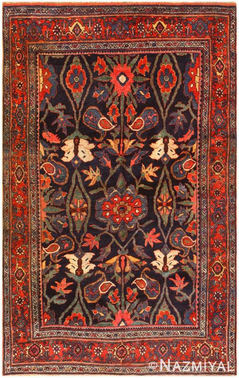 Tribal Antique Blue Persian Bidjar Rug 48655 Nazmiyal