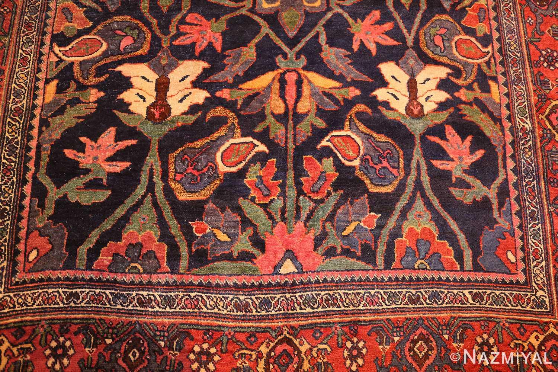 tribal antique blue persian bidjar rug 48655 down Nazmiyal