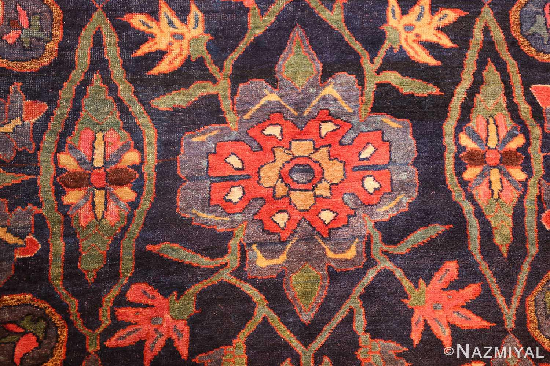tribal antique blue persian bidjar rug 48655 field Nazmiyal