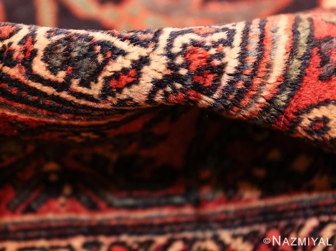 tribal antique blue persian bidjar rug 48655 pile Nazmiyal