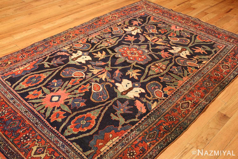 tribal antique blue persian bidjar rug 8655 side Nazmiyal