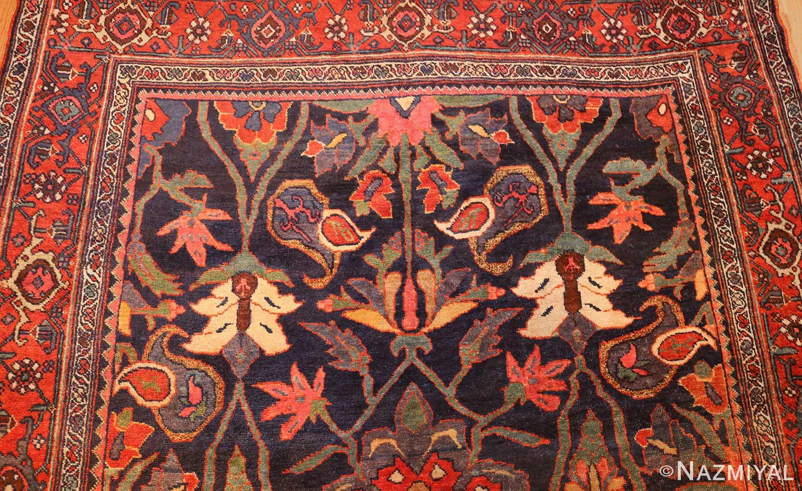tribal antique blue persian bidjar rug 48655 top Nazmiyal