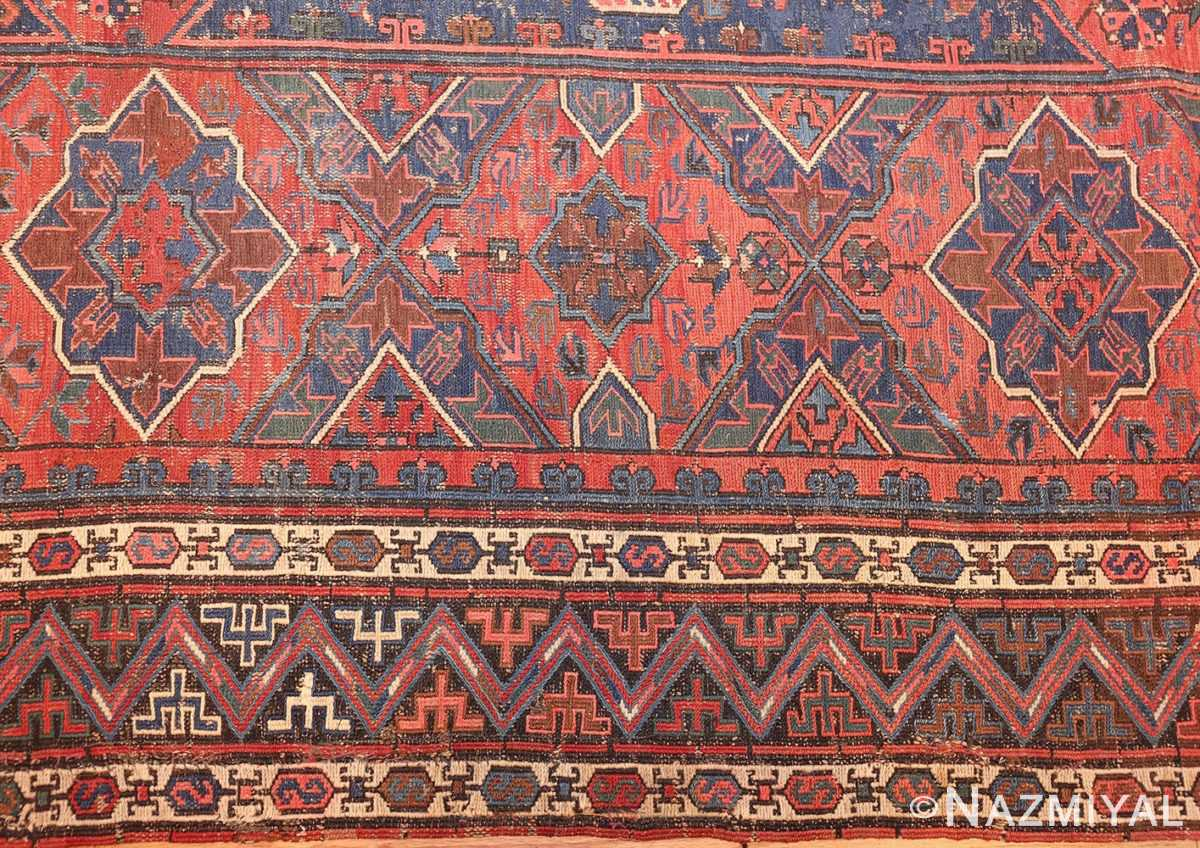 tribal antique caucasian soumak rug 50365 border Nazmiyal